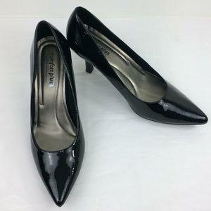 Predictions Comfort Plus black patent heel Sz 11